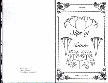 Frontispiece to Slips of Nature.